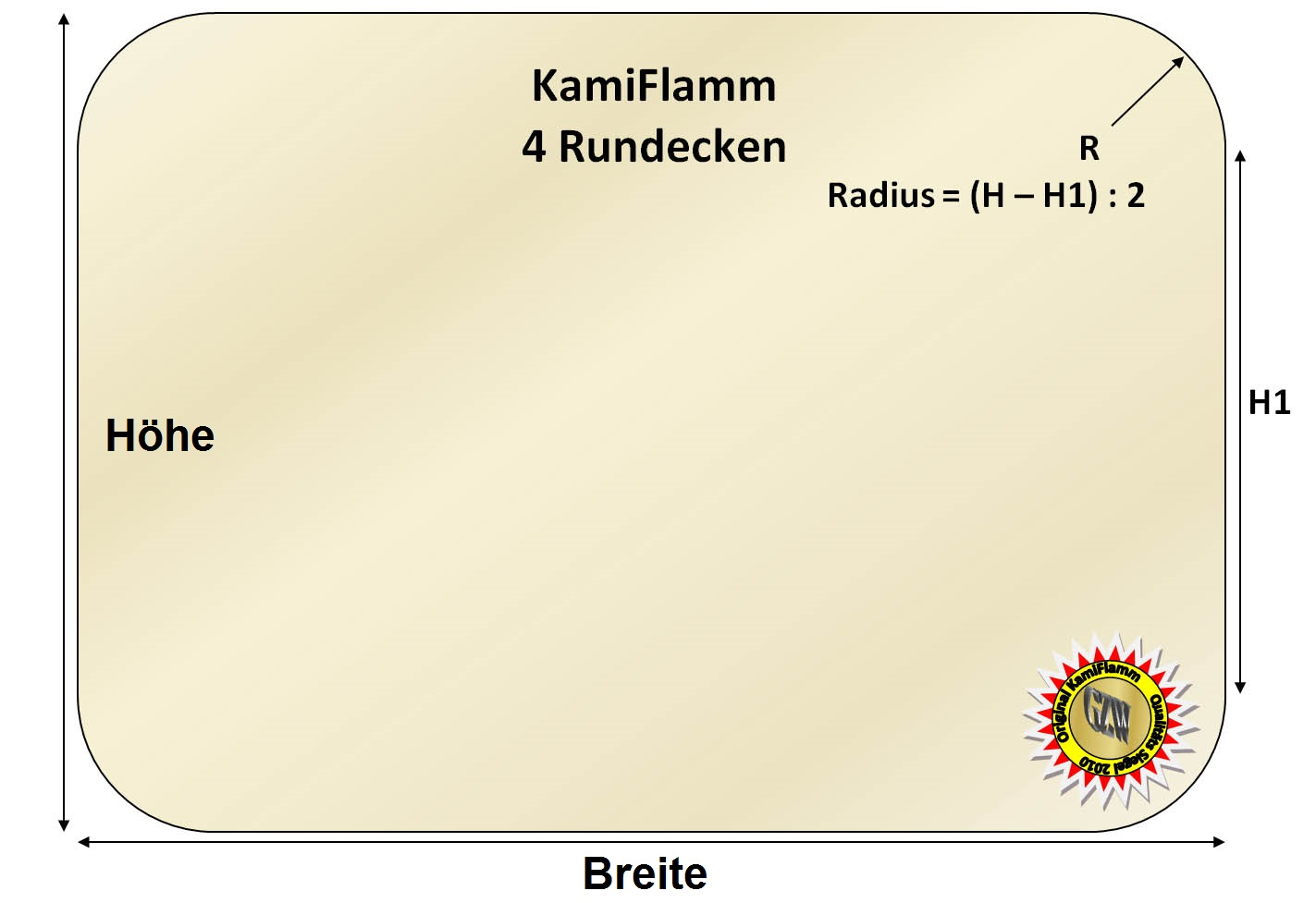 Kaminglas Ofenglas Kaminscheibe feuerfest Glas Ofen Sichtglas Bullerjan® 02